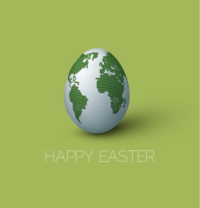 Carte de Pâques heureuse de vecteur simple illustration libre de droits