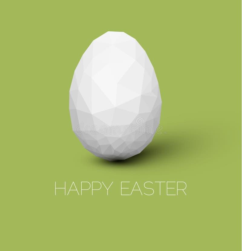 Carte de Pâques heureuse de vecteur simple illustration stock