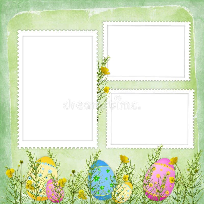 Carte de Pâques pour les vacances avec l'oeuf illustration libre de droits