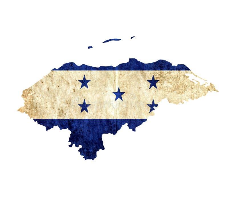 Carte de papier de cru du Honduras illustration de vecteur