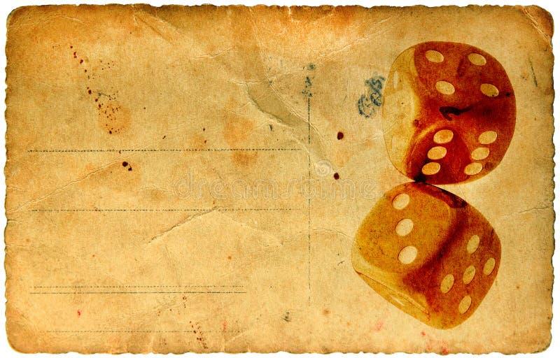 Carte de papier de cru de matrices illustration libre de droits