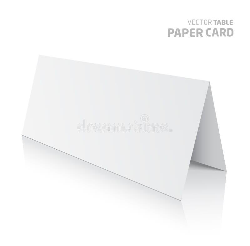 carte de papier de la table 3d sur un fond gris illustration libre de droits
