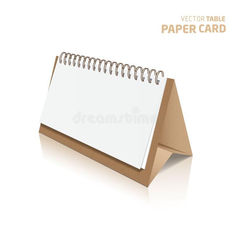 carte de papier de la table 3d sur un fond gris Realis de vecteur illustration libre de droits