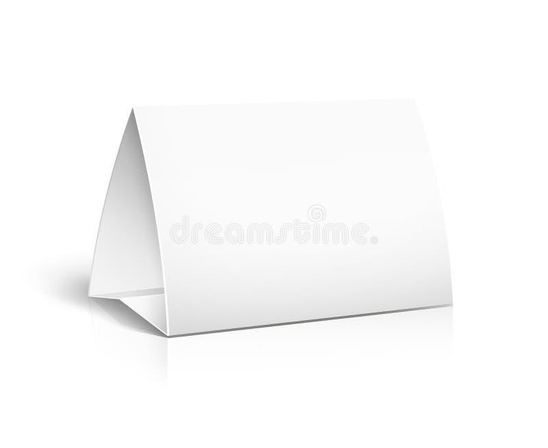 Carte de papier de Tableau illustration stock
