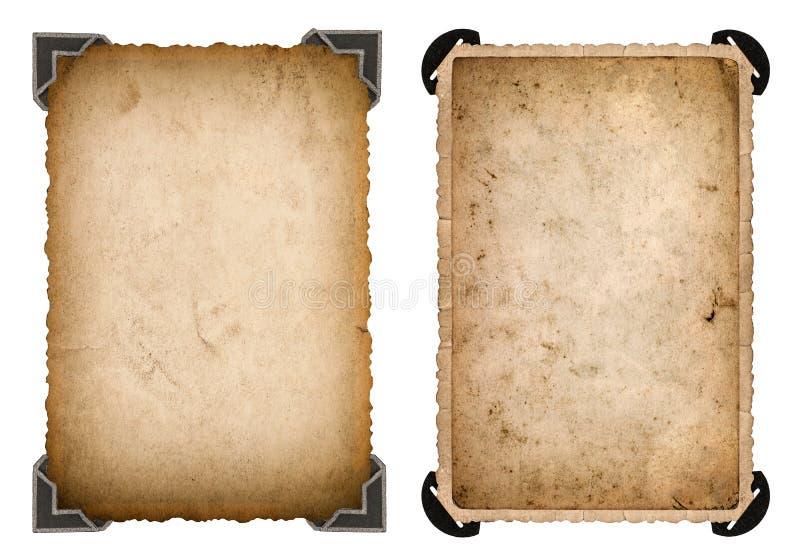Carte de papier de vieille photo avec le rétro cadre de coin et de bords images libres de droits