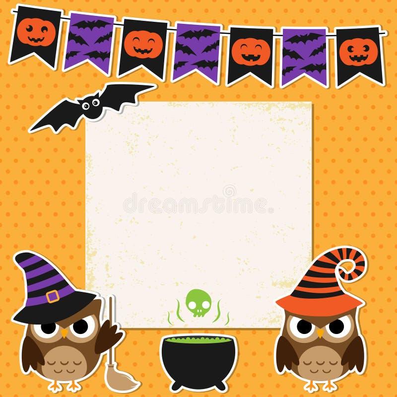 Carte de partie de Halloween illustration de vecteur