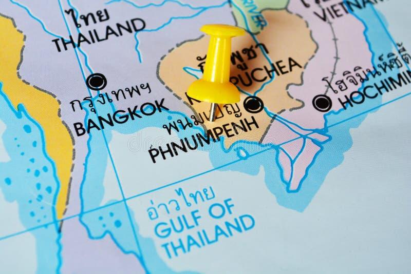 Carte de Phnom Penh images stock