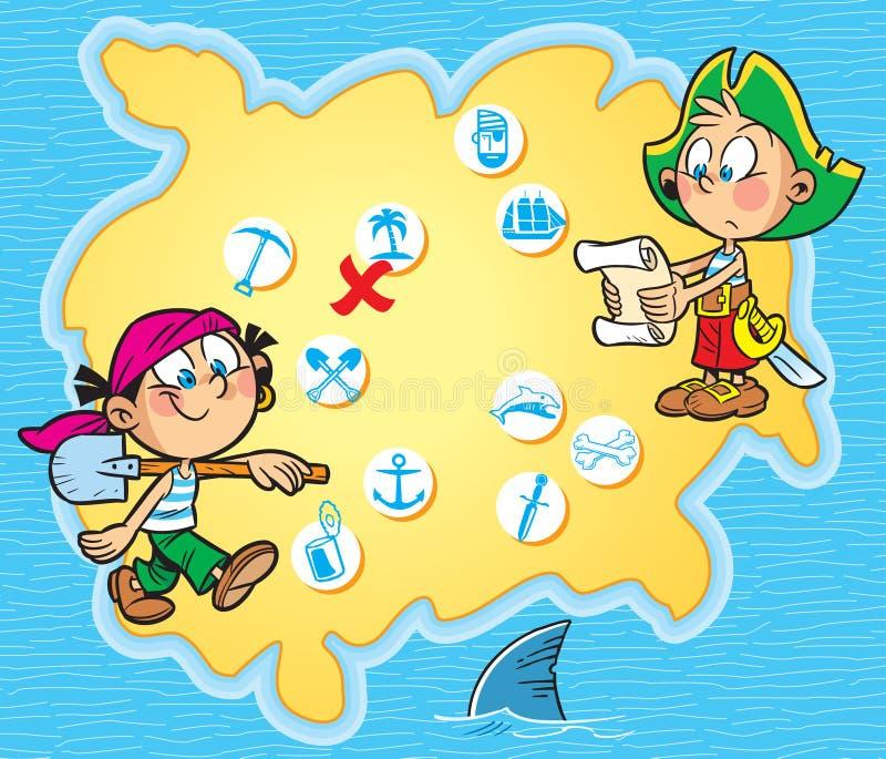 Carte de pirate illustration libre de droits
