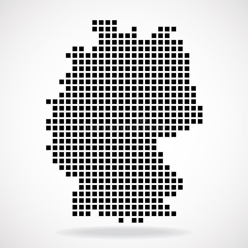 Carte de pixel de l'Allemagne illustration libre de droits