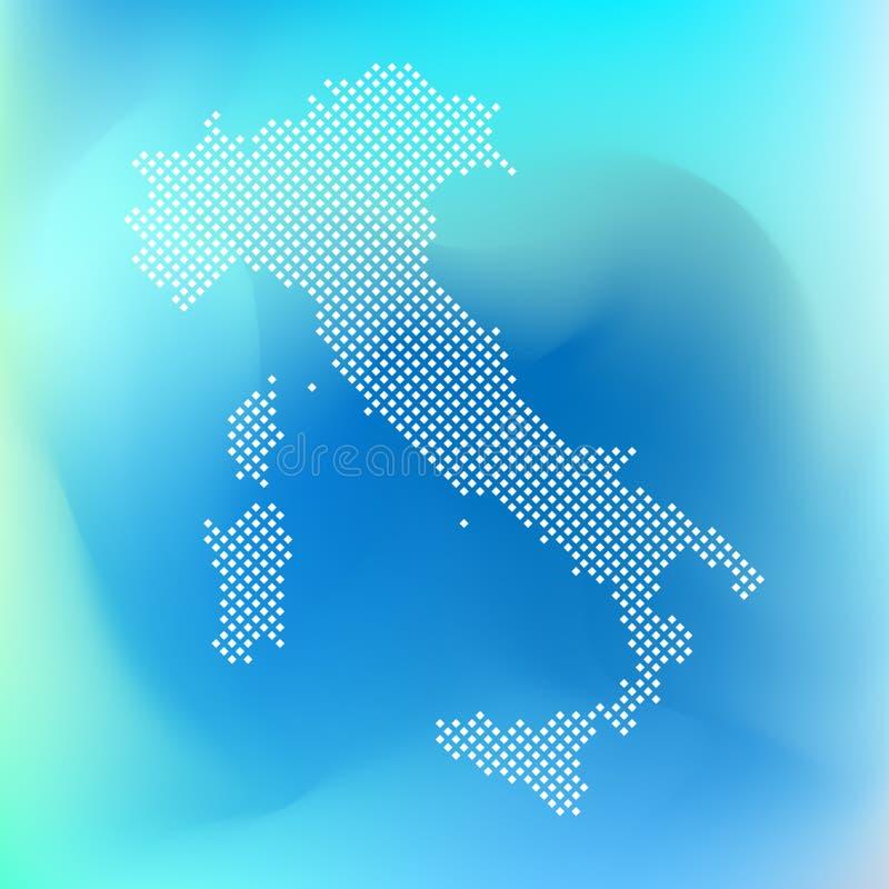 Carte de pixel de l'Italie Dirigez la carte pointill?e de l'Italie a isol? sur le fond blanc Symbole de page de carte de l'Italie illustration libre de droits