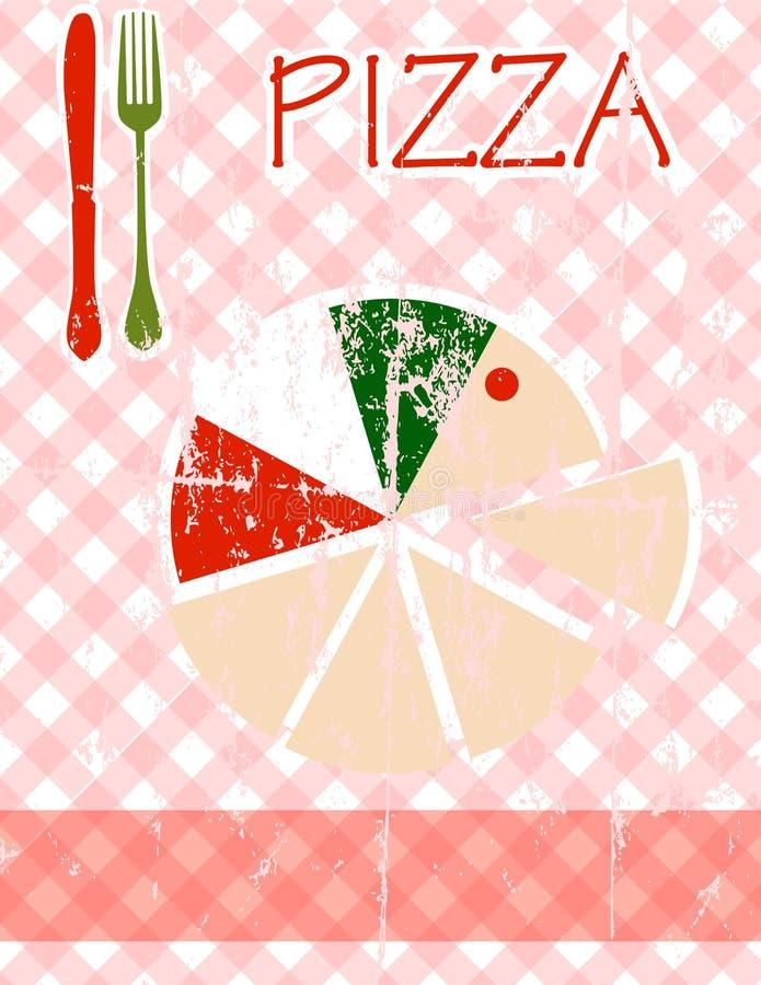 Carte de pizza illustration de vecteur