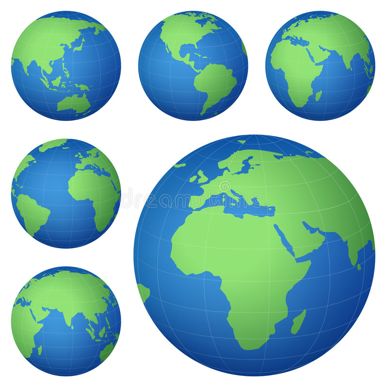 Carte de planète illustration de vecteur