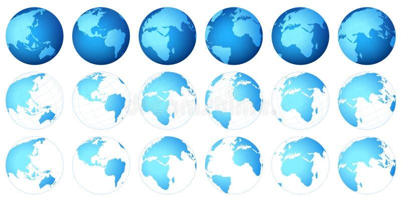 Carte de planète illustration libre de droits
