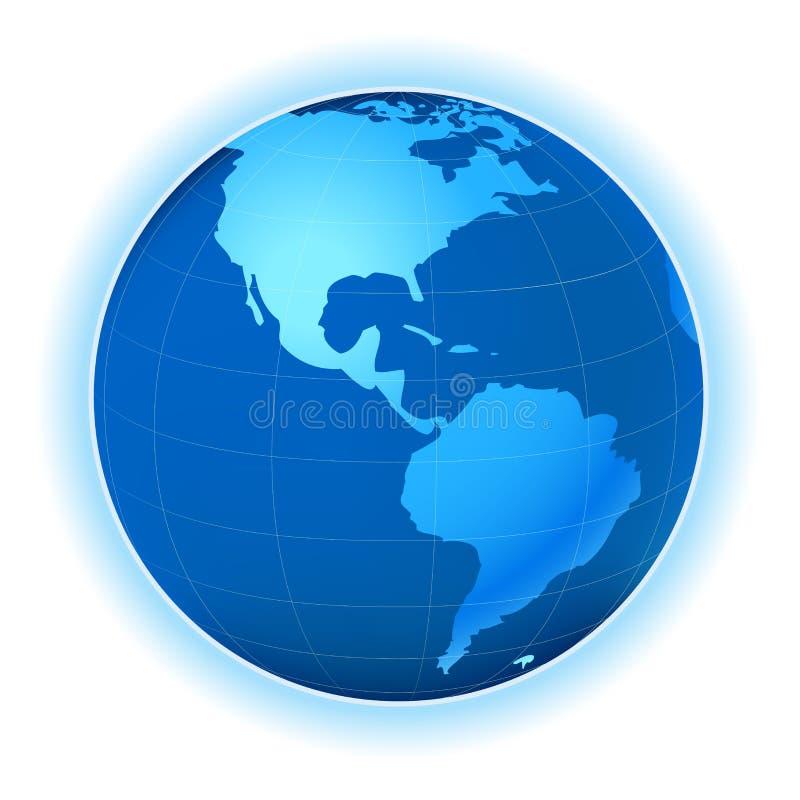 Carte de planète illustration stock