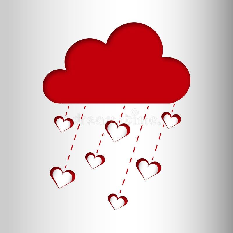 Carte de pluie d'amour illustration libre de droits