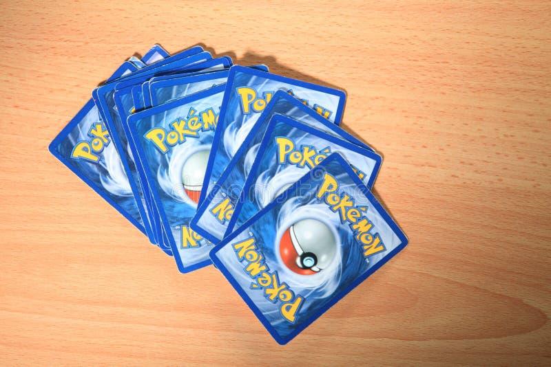 Carte de Pokemon photo libre de droits