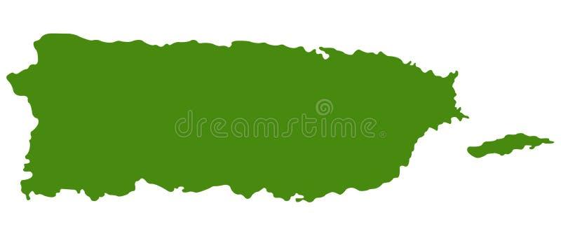 Carte de Puerto Rico - Commonwealth de Puerto Rico illustration stock