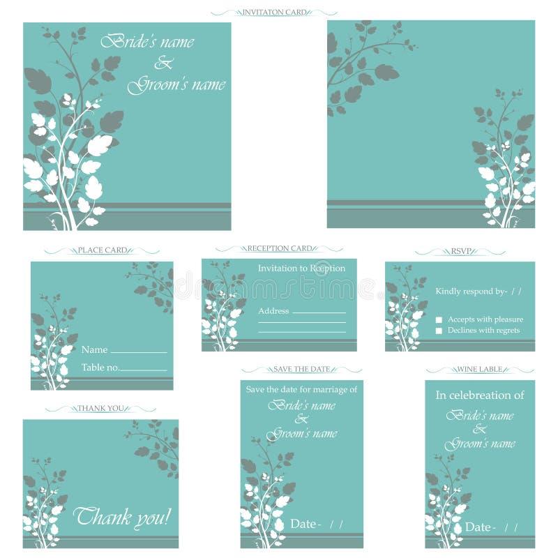 Carte de réception de mariage illustration de vecteur