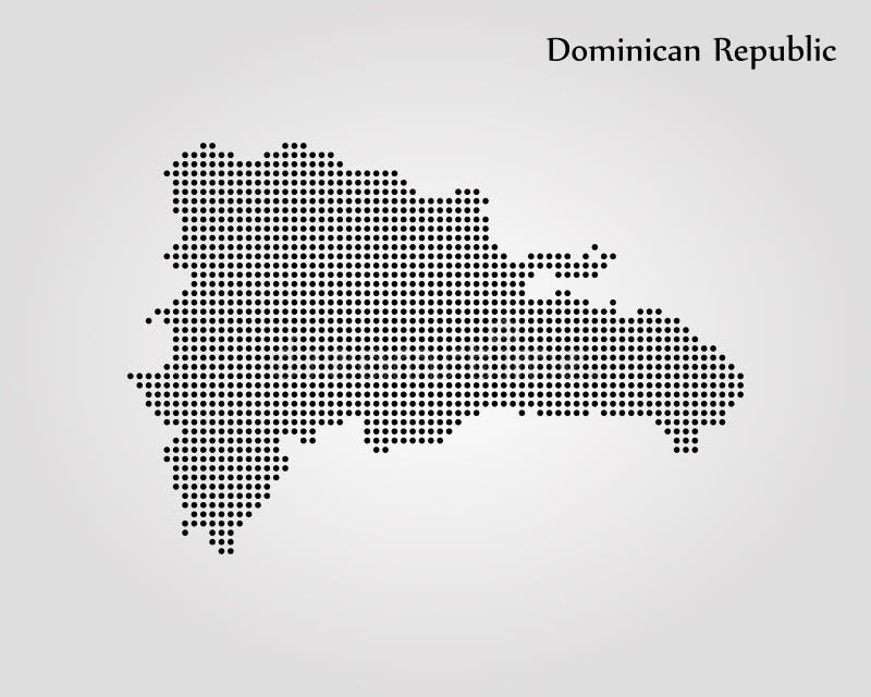 Carte de r?seau de la R?publique Dominicaine  Illustration de vecteur Carte du monde illustration de vecteur