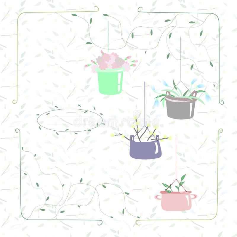 Carte de ressort avec des fleurs photo libre de droits
