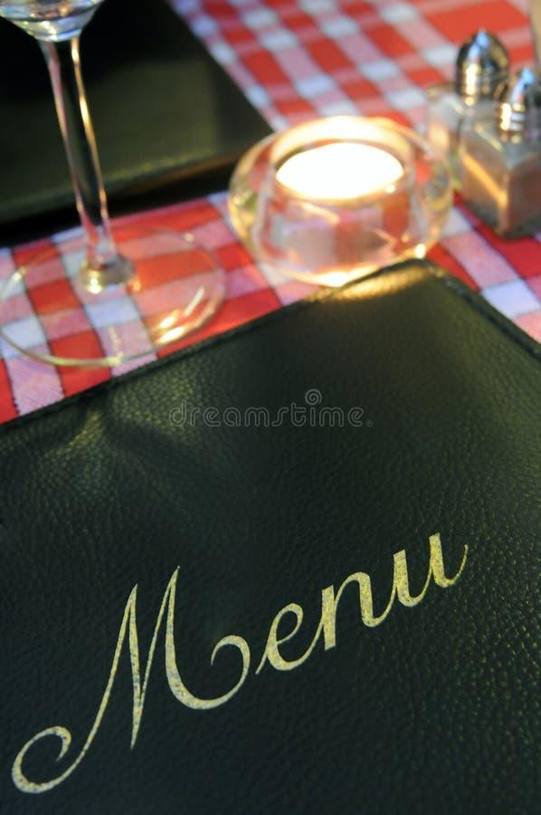 Carte de restaurant photographie stock