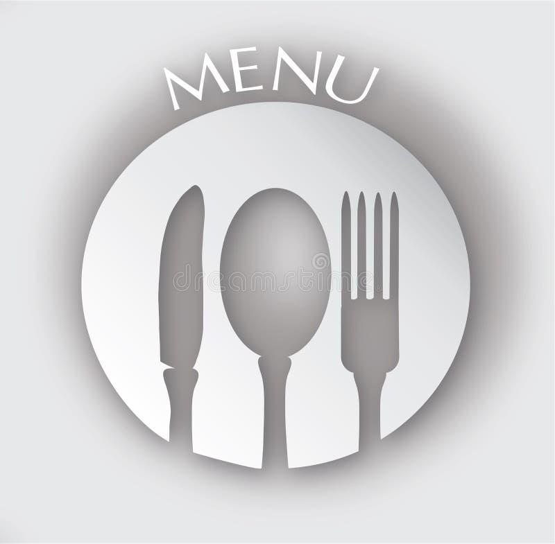 Carte de restaurant illustration stock