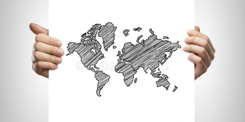 Carte de retrait dans la carte images stock