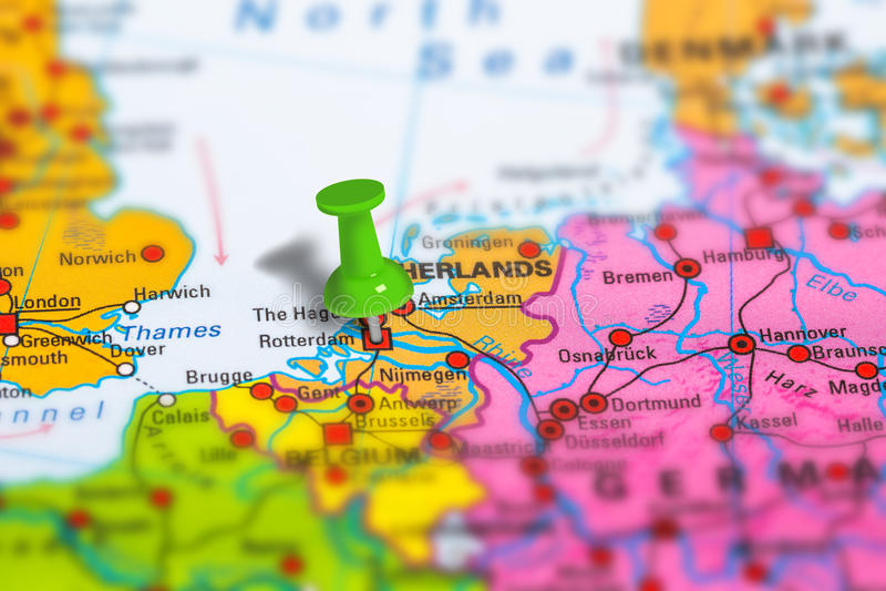 Carte de Rotterdam Pays-Bas image stock