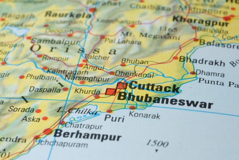 Carte de route de Cuttack photo libre de droits