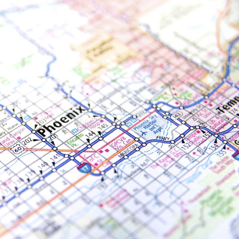 Carte de route de Phoenix Arizona photo libre de droits