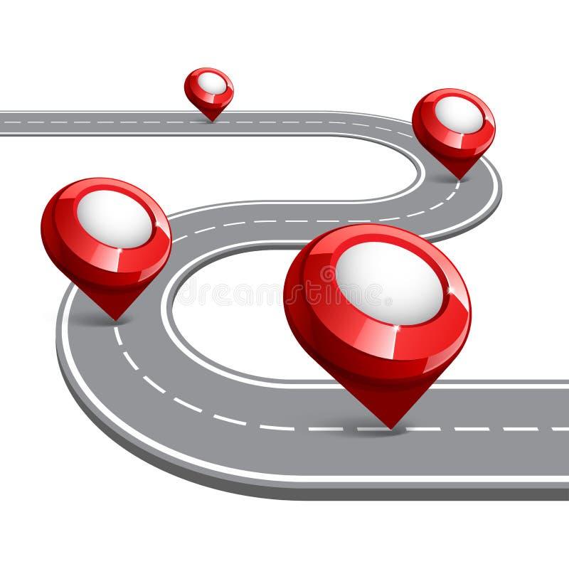 Carte de route pour des affaires infographic illustration de vecteur