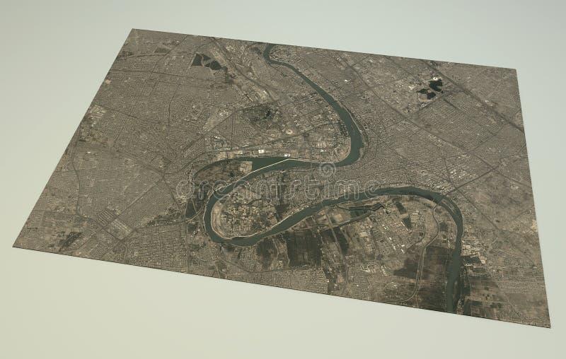 Carte de rues et de bâtiments de Bagdad illustration libre de droits
