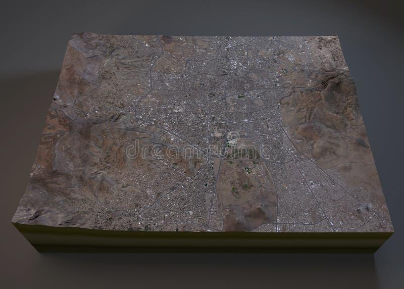 Carte de rues et de bâtiments de Sana'a illustration stock