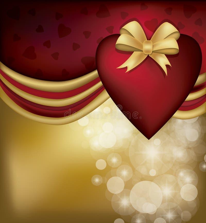 Carte de Saint Valentin illustration libre de droits