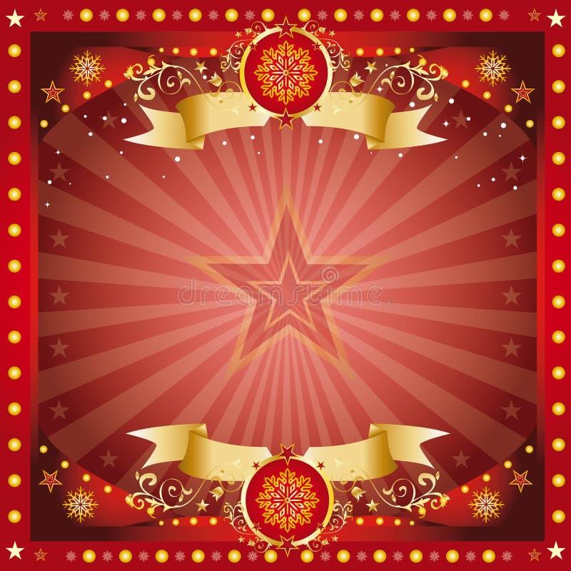 Carte de salutation fantastique de Noël illustration de vecteur