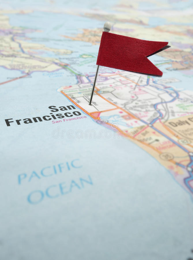 Carte de San Francisco images stock