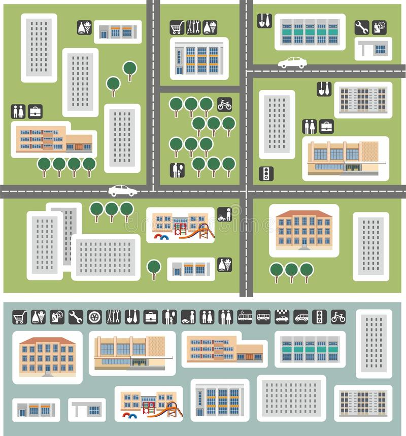 Carte de secteur illustration stock