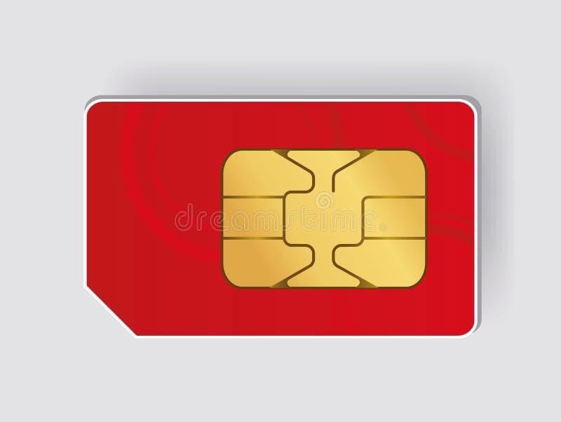 Carte de SIM illustration libre de droits