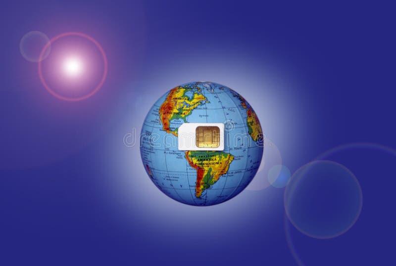 Carte de Sim image stock