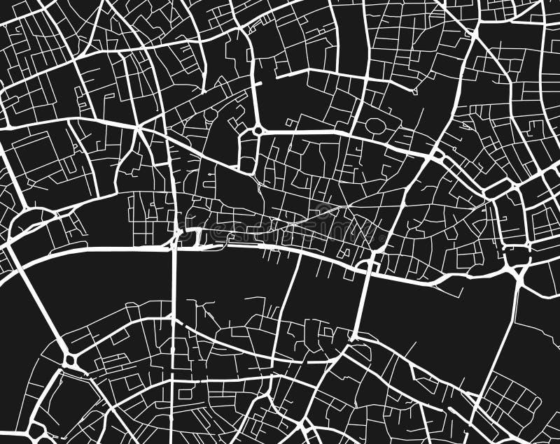 Carte de site de ville illustration stock