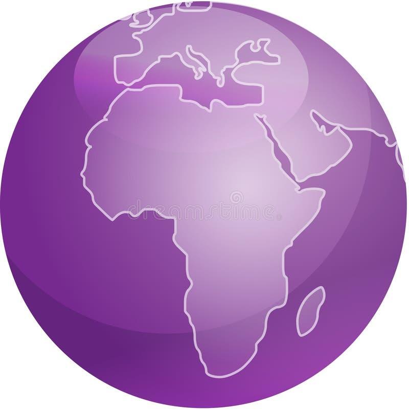 Carte de sphère de l'Afrique illustration de vecteur