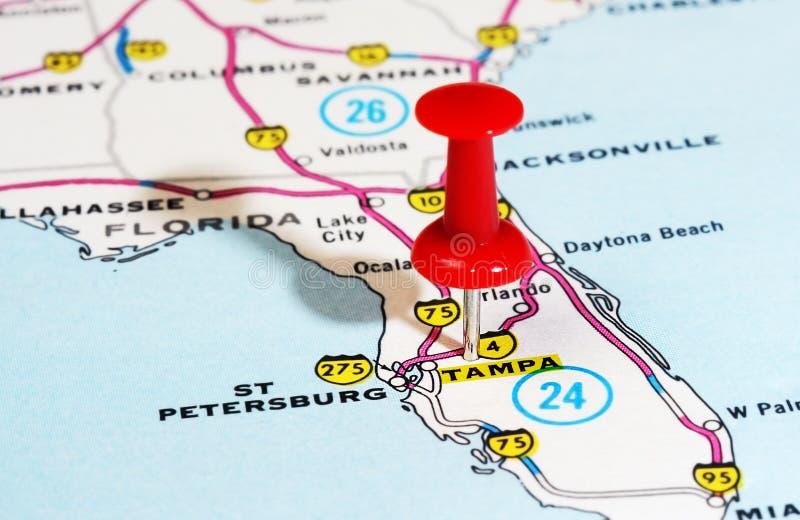 Carte de Tampa la Floride Etats-Unis photos libres de droits