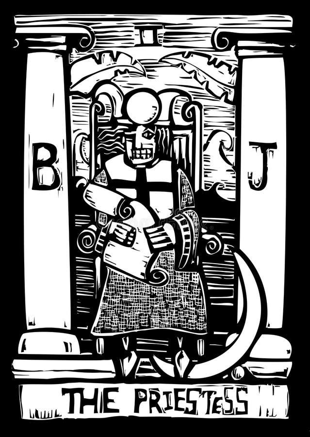 Carte de Tarot de prêtresse illustration de vecteur