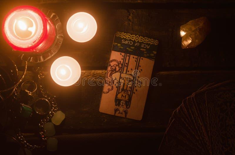 Carte de tarot Future lecture divination images libres de droits