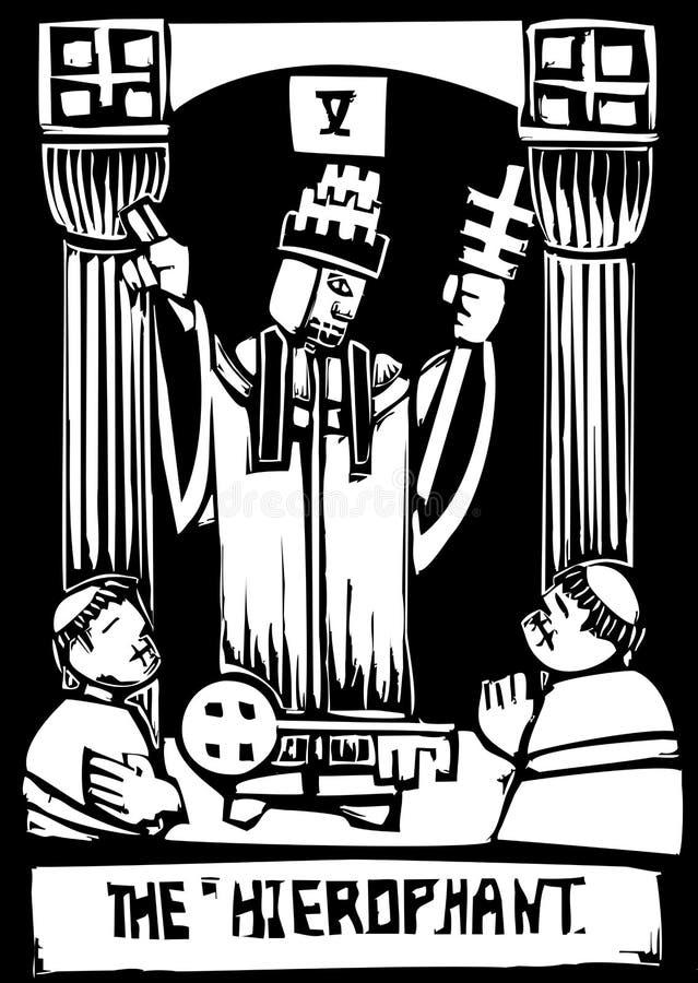 Carte de Tarot Hierophant illustration stock