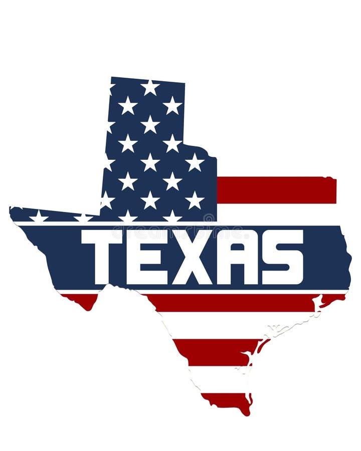 Carte de Texas State image libre de droits