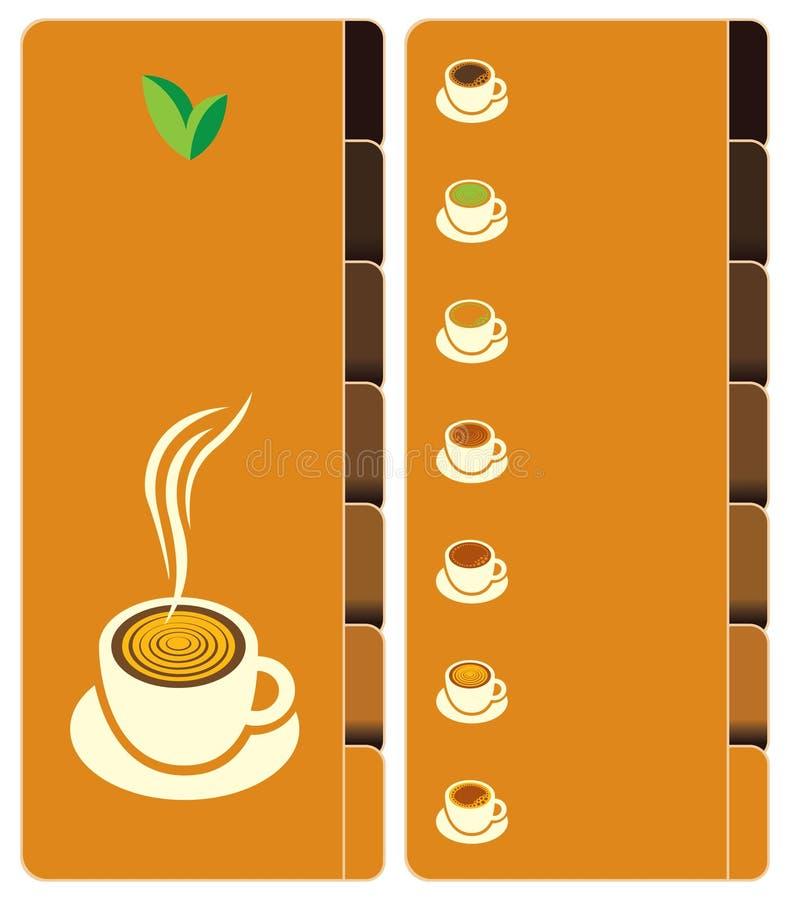 Carte de thé illustration de vecteur