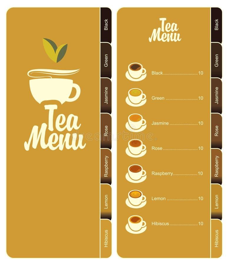 Carte de thé illustration stock