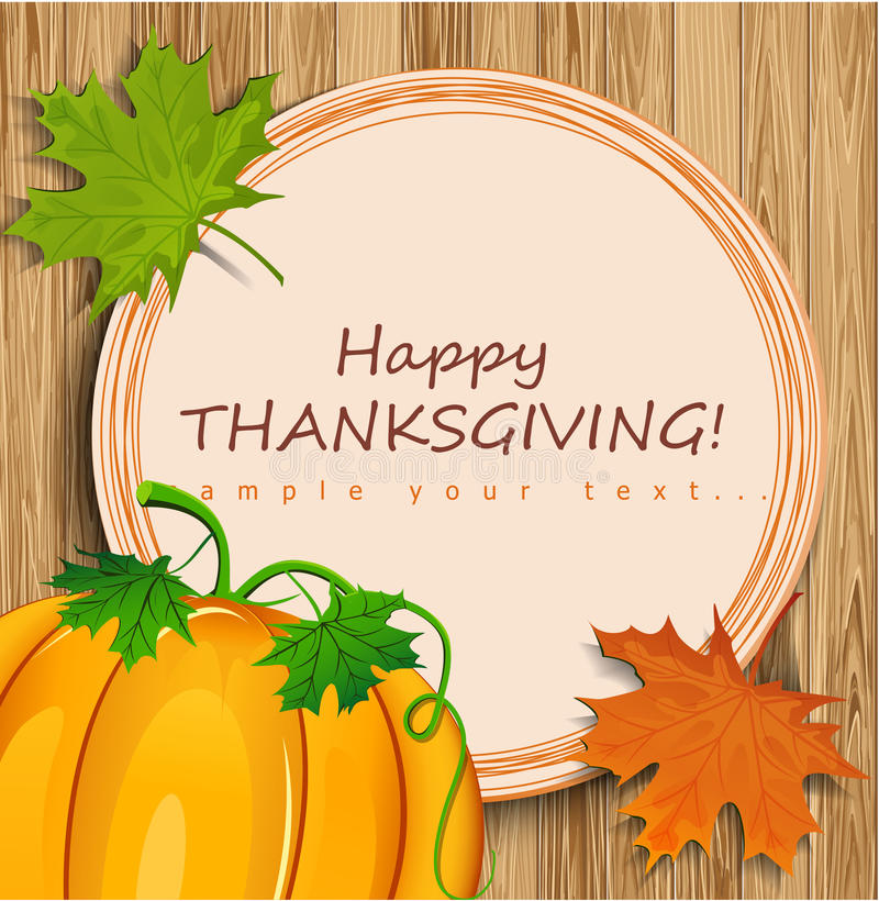 Carte de thanksgiving illustration libre de droits