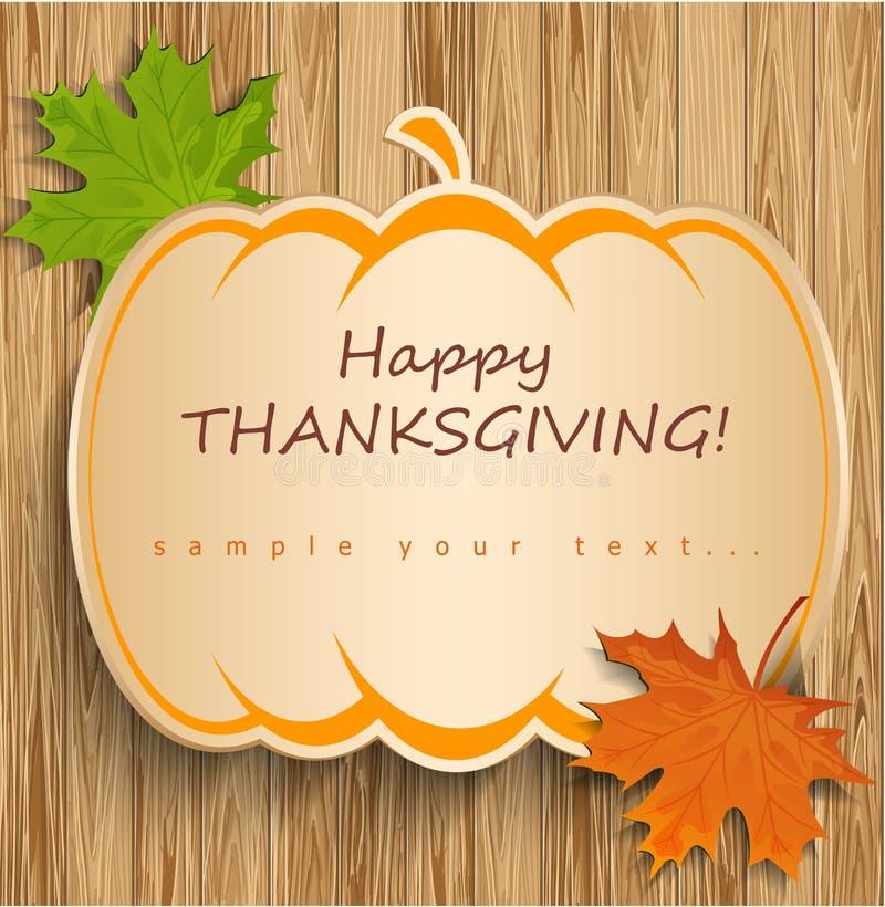 Carte de thanksgiving illustration stock